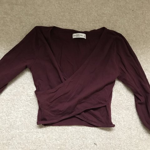 b1f2072640d4 Abercrombie & Fitch ballerina cropped wrap top! Looks great - Depop