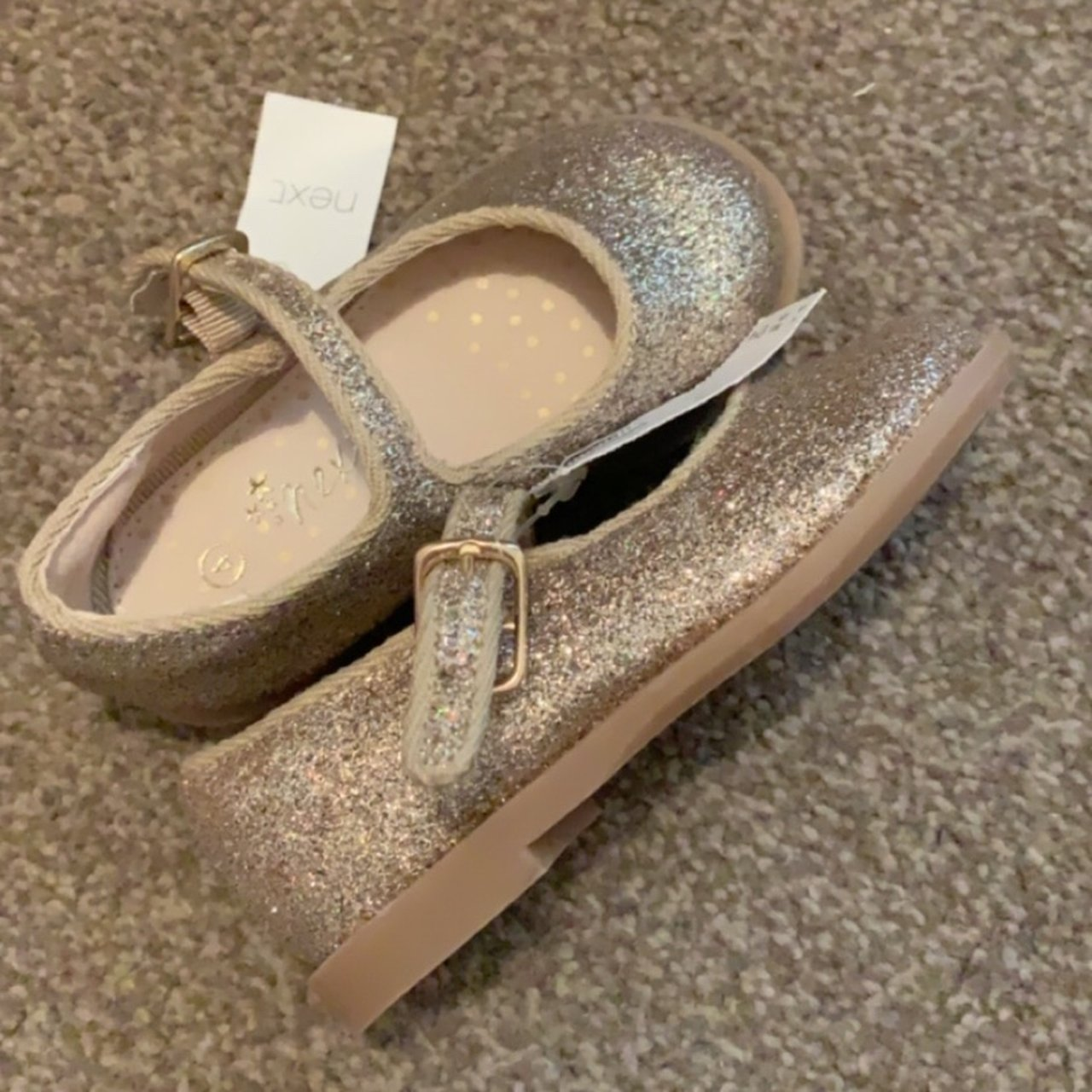BNWT sparkly gold shoes from next