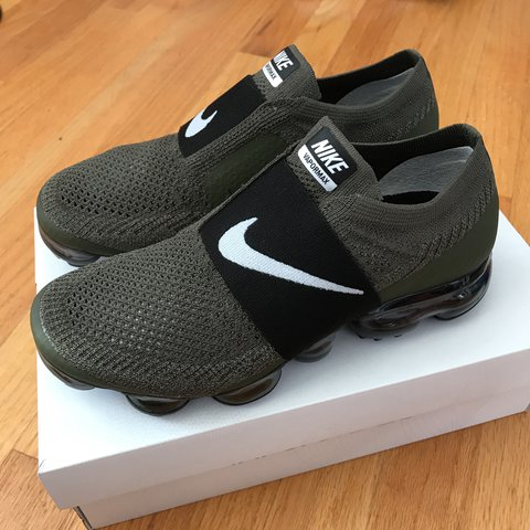 d7d0a099d5 Nike Vapormax Moc. Olive green coloreay, size 6.5 in Only 1 - Depop