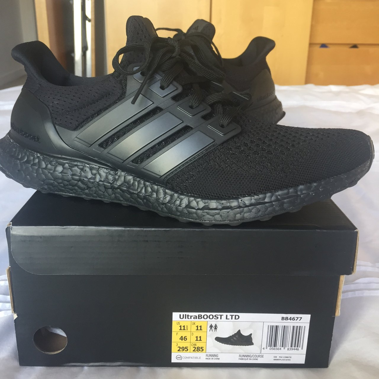 870ad5dec95ce Adidas Ultra Boost 1.0 Triple Black UK 11 ⚫ ⚫ ⚫ Worn once ...