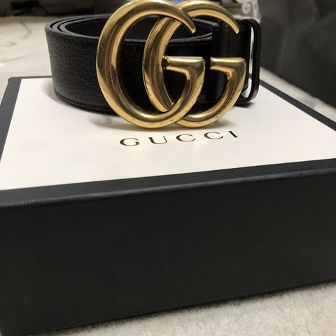 99f1f2d860b 100% authentic brown Gucci belt. Comes with box and bag lost - Depop