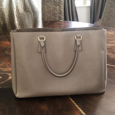 Selling grey Prada tote. Few signs of general use but in for - Depop f98824949624b