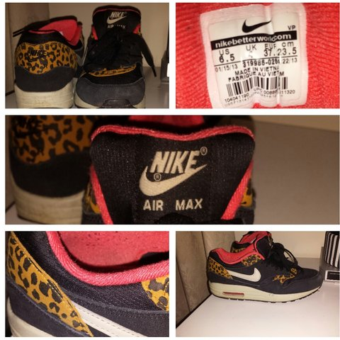 Air max leopard print. Condition = 610. Need a wipe Depop