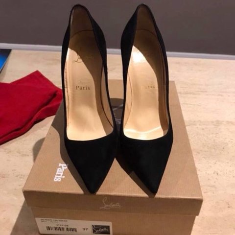 b950a54f04fb Ladies Louboutins so kate suede. In perfect condition as a - Depop