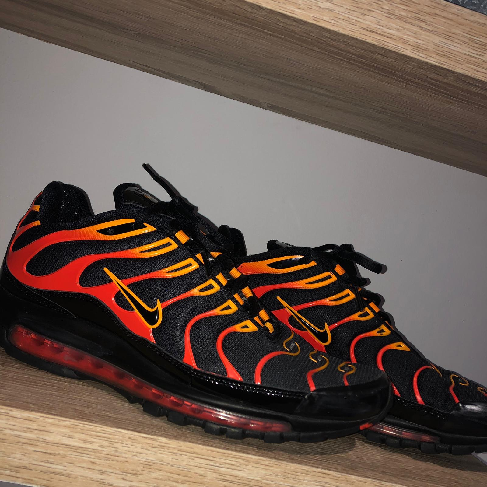 Pera Alerta conductor  🔺 NIKE AIR MAX 97 PLUS/TN HYBRID 🔺 Shock orange 🔺... - Depop