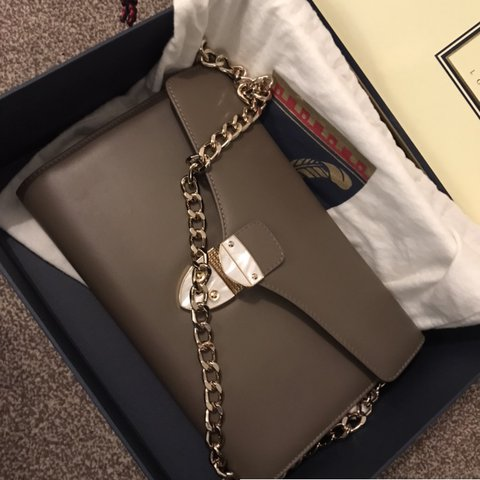 Genuine Aspinal of London leather clutch bag