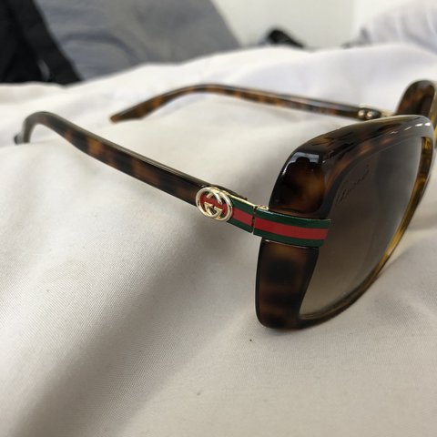 6e252d03f35 Authentic gucci sunglasses in brand new condition. Hardly I - Depop