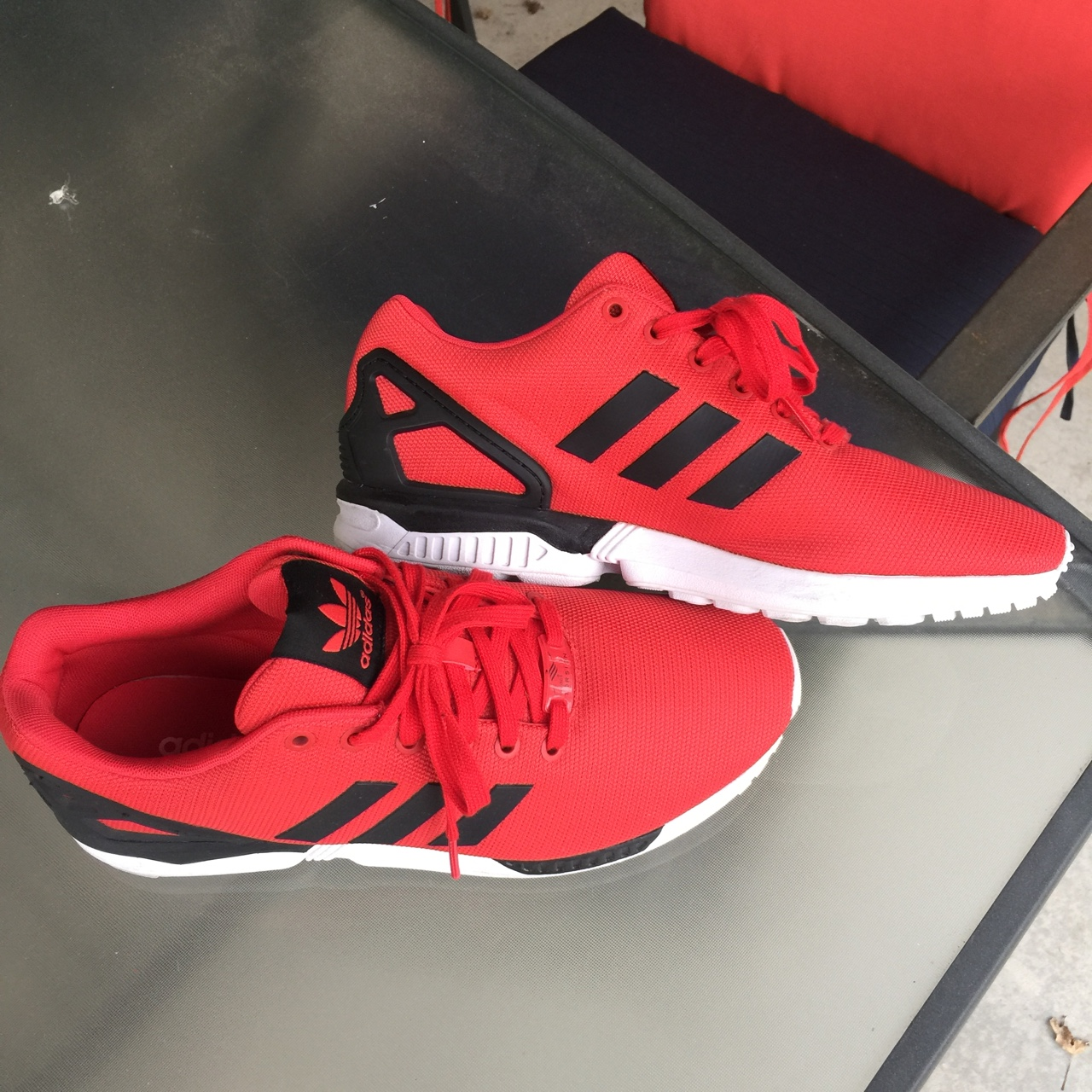 huge discount cceb1 344b4 RED #ADIDAS ZX FLUX w/ ADIDAS TORSION 9/10 due to ...