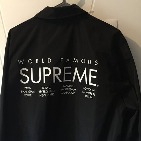 Vdrivns 4 Years Ago Lyon France Supreme International Coach Jacket