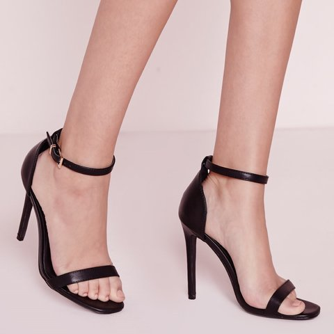 d43ad35bd37184 MISSGUIDED barely there strappy heels black
