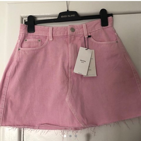 fe96b2cc46ff @clodagh_c. last year. Galway, Ireland. Pink denim skirt from bershka 💕  Brand new with tags bought ...