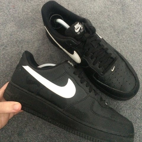 best sneakers 1191e 57dd2  sean1ab. last year. Manchester, United Kingdom. Nike Air Force 1 black  with reflective tick.