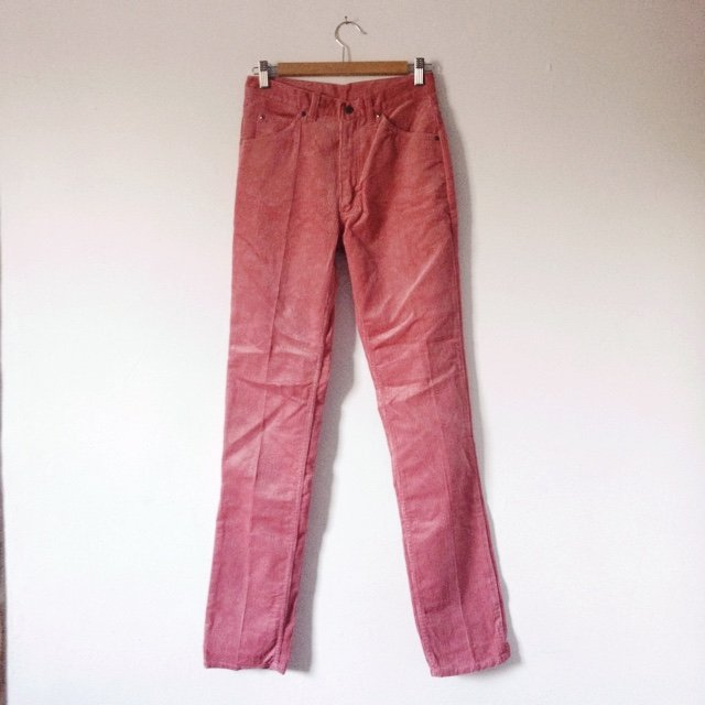 b1822c95 Vintage 70s pink corduroy trousers with high waist and leg. - Depop