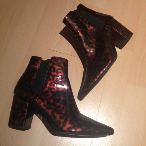 c67fa8152a6 @mimistewart123. 2 years ago. Birmingham, UK. Zara leopard print patent  leather ankle boots. Never worn out