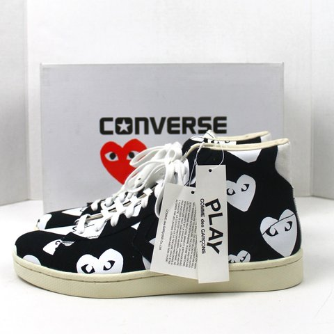 c314c862897f85 COMME DES GARCONS PLAY X CONVERSE PRO LEATHER HI US Men s - - Depop