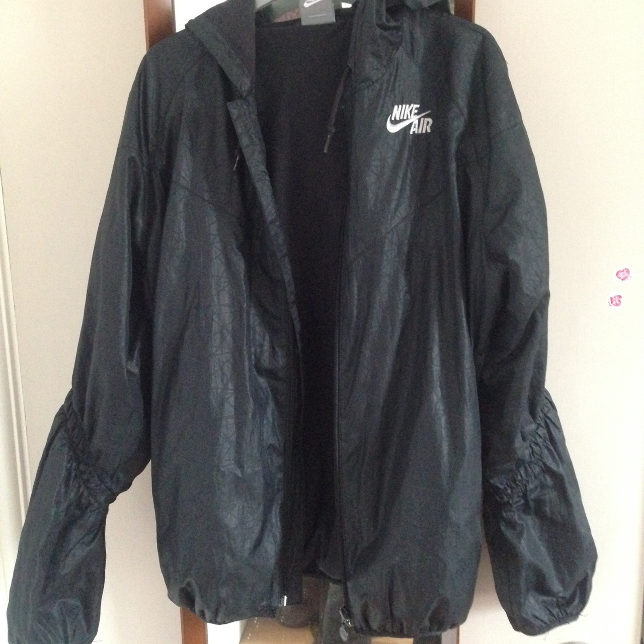 how to purchase exquisite design release info on Nike Air black raincoat jacket / anorak. Size M but... - Depop