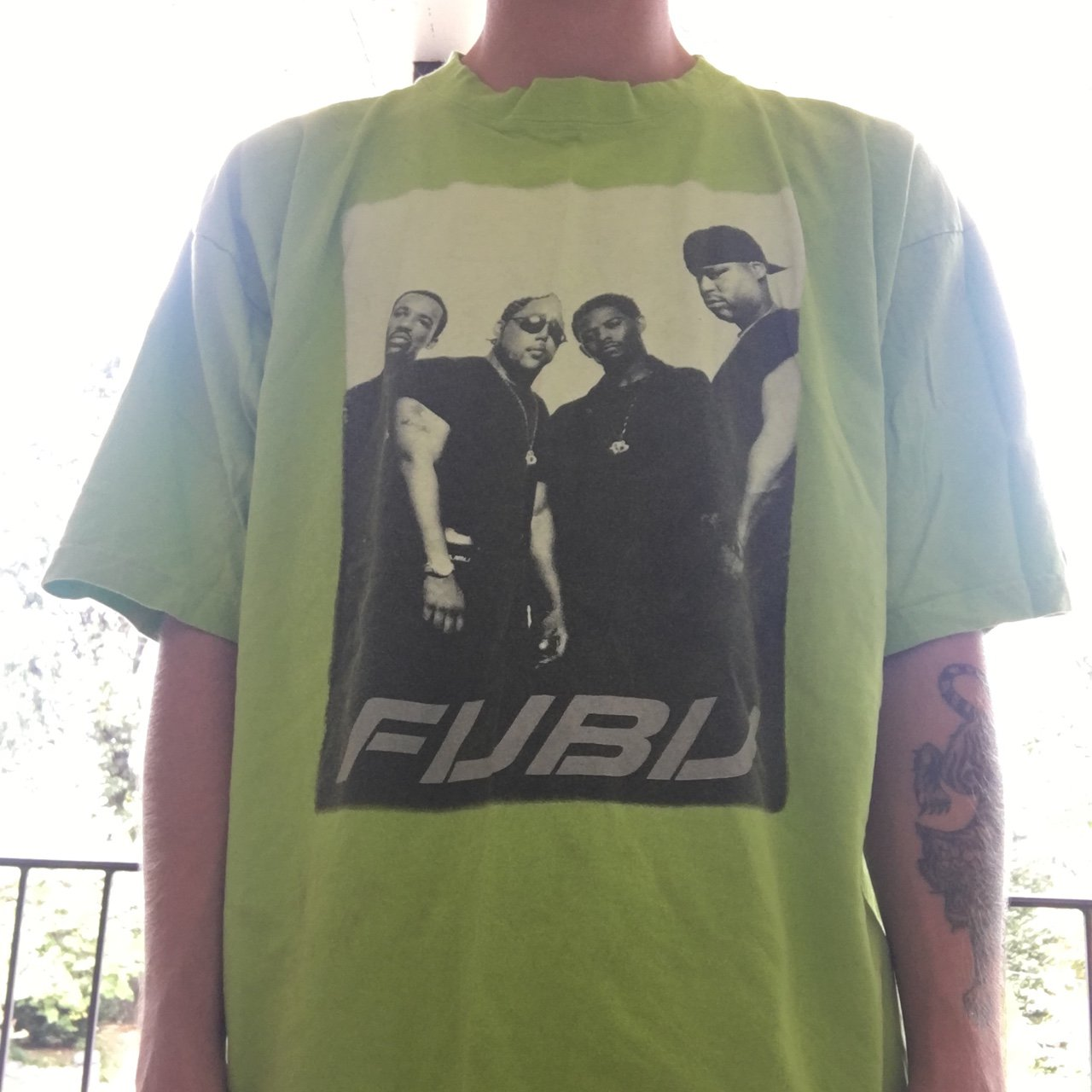 8ccf2ed724c6 ... vintage fubu shirt tag says size big but it fits like an on depop ...
