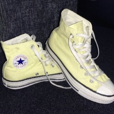 c8b72f9f2d9 Converse all star high tops in Pastel yellow