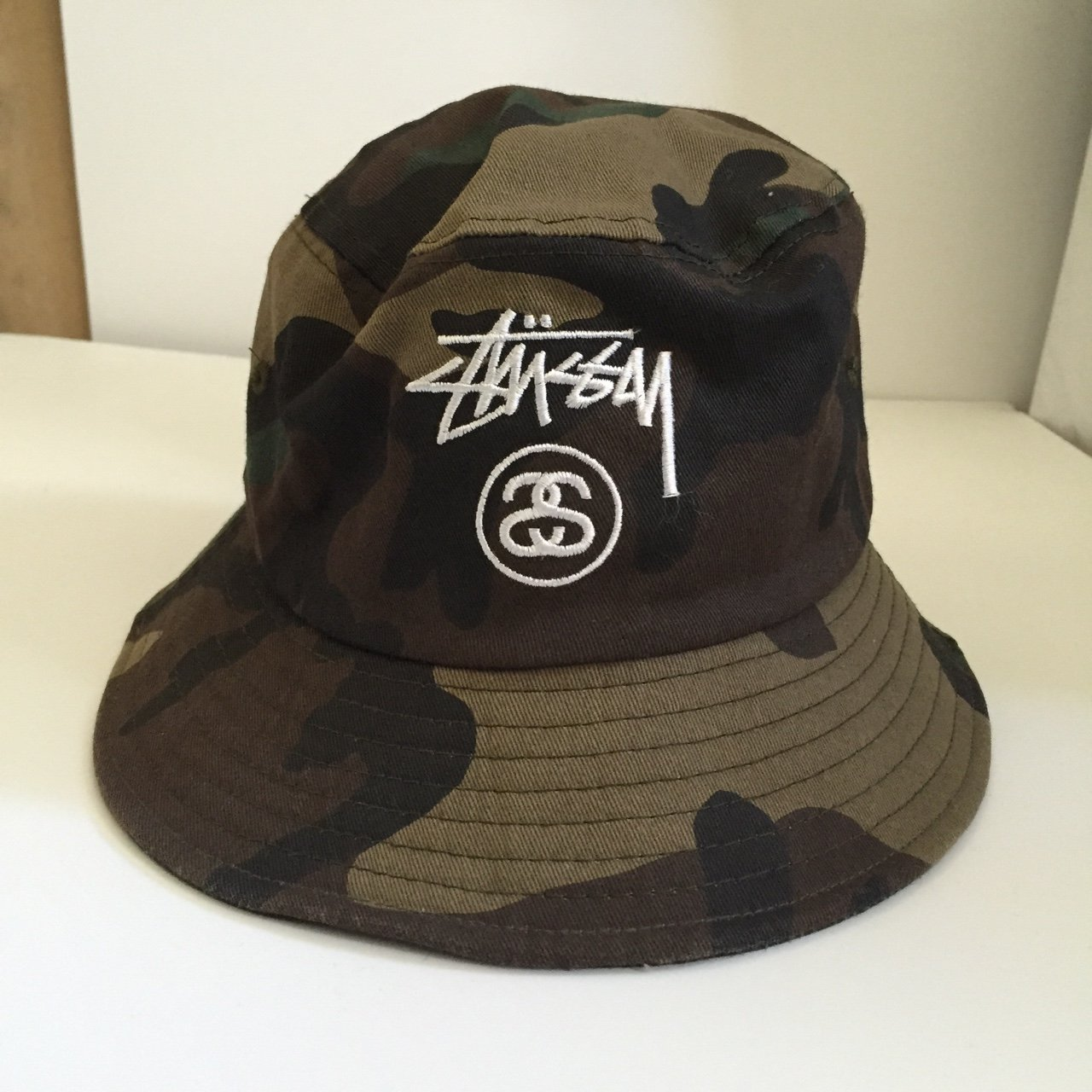 Stussy Camo Bucket Hat. Head might partially disappear when - Depop e57bf29e91b