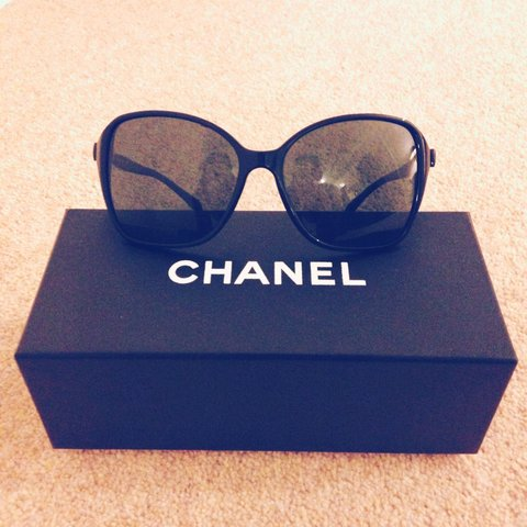 ca68c01c8b2c 100% authentic Chanel sunglasses with bow detail. Good and - Depop