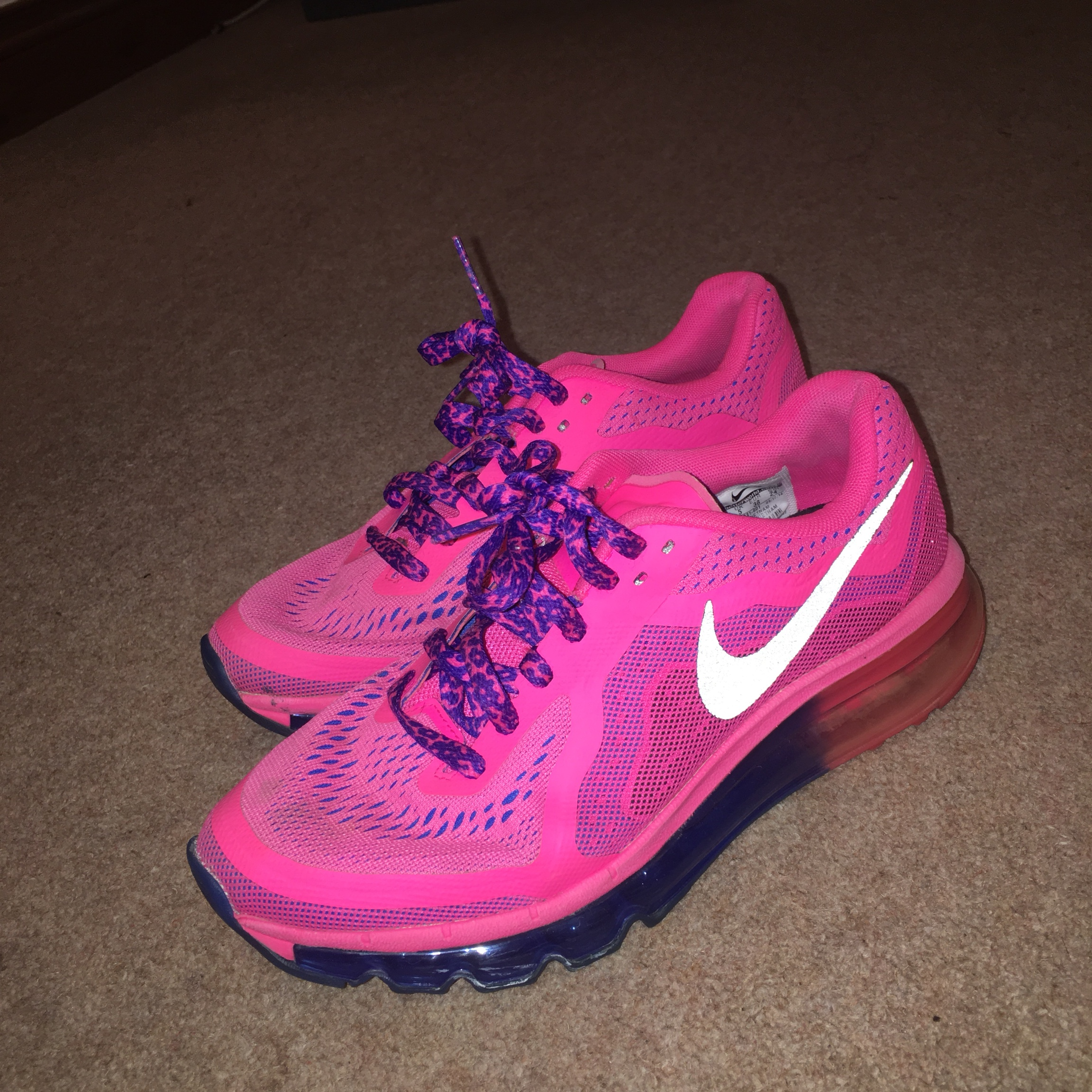 Nike Pink nike air max with purple and