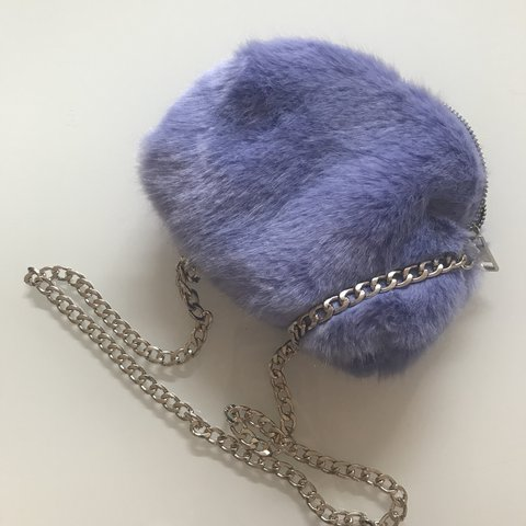 a0fe29bf95 Primark blue purple fluffy clutch bag. New without tags. x - Depop