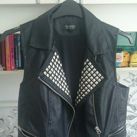 Size 12 Pleather Gillet From Topshop Worn A Handful Of Depop