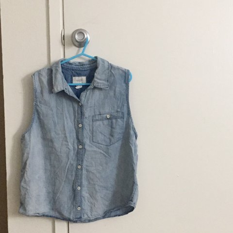 b0892829d2 Denim collared shirt - looks great tucked in with trousers! - Depop