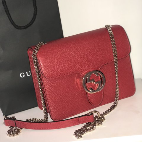 f2e898e6c2d Authentic Interlocking  G  Red Gucci Bag. Comes with proof - Depop