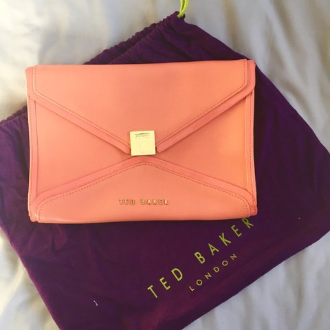 559398d8cb Ted Baker peach envelope clutch bag. Used a couple of times. - Depop
