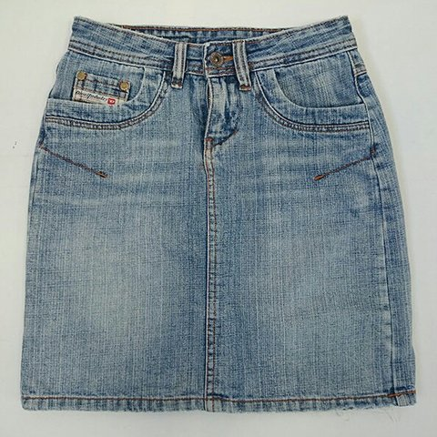 28f43aa10 DIESEL – Denim Skirt Size S UK 6 Distressed Denim Short - Depop