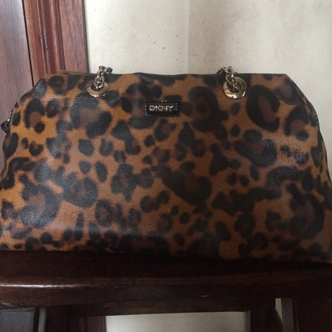 acfa7ccdca REDUCED PRICE Genuine DKNY chain leopard print bag. Bought + - Depop