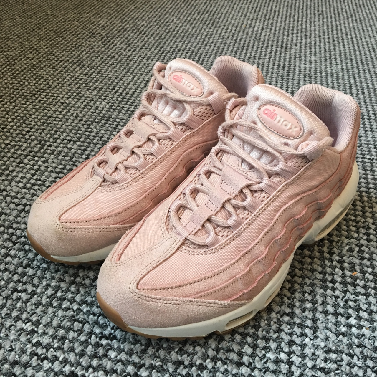 50% off shoes for cheap clearance sale NIKE AIR MAX 95 Pink Oxford Prm Near-perfect... - Depop