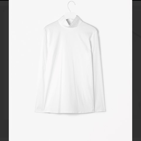 e06592b259e4f Cos high neck cotton top. White. Size 36/6-8. New without a - Depop