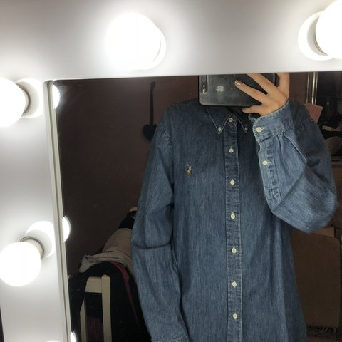 cecfa61516 Custom fit Polo Ralph Lauren denim shirt - Depop