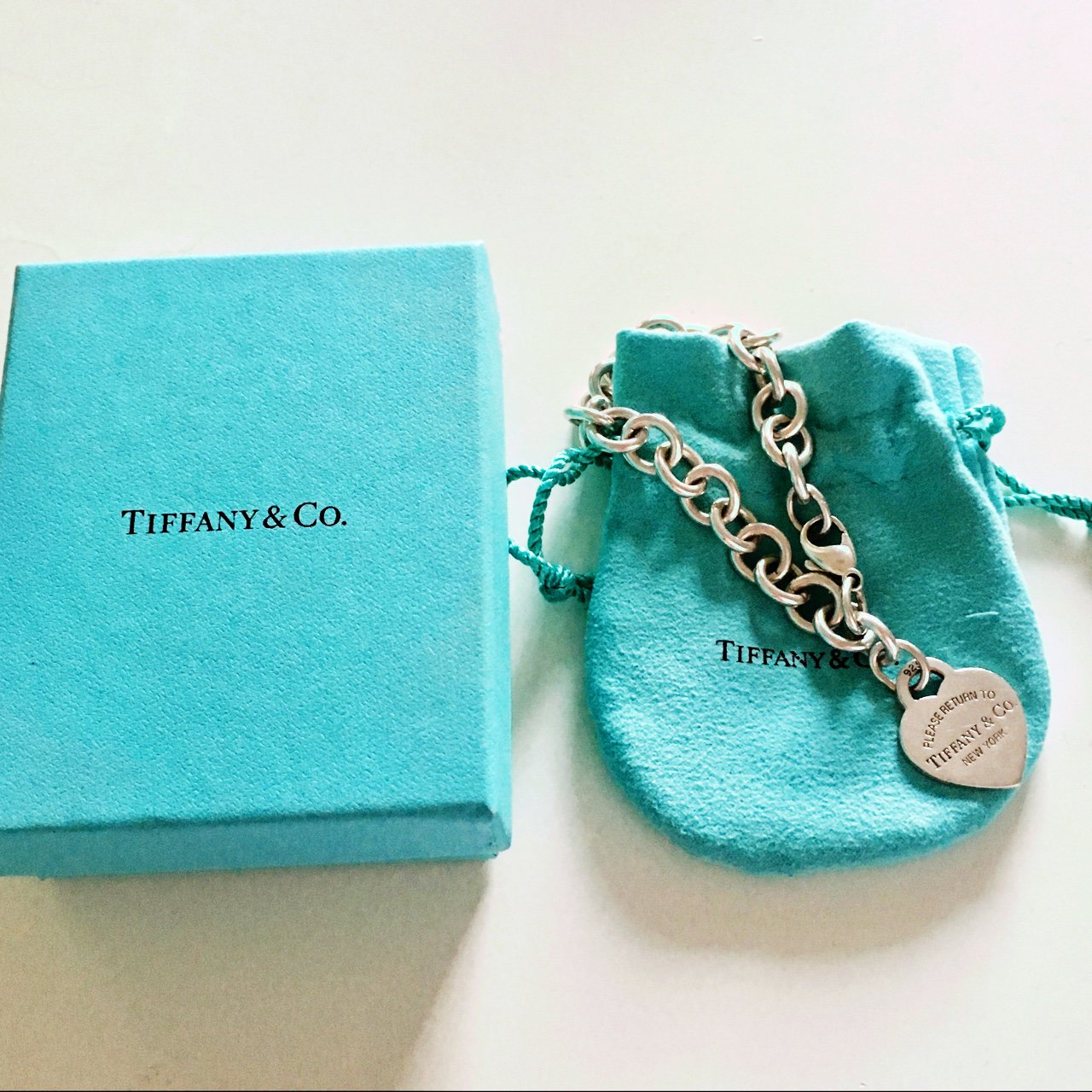 2141a41b15386 Sterling silver Tiffany bracelet with original packaging. to - Depop