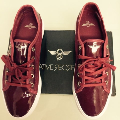 2a22f51d3d7 Brand new burgundy creative recreations size 9 never been on - Depop