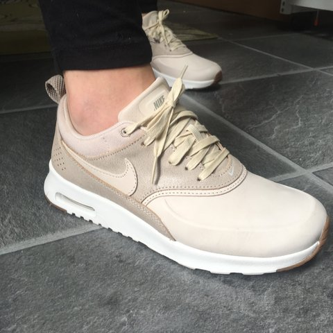50cd32dcc9fd *THESE ARE NOT £1* Nike air max thea trainers in a sand-nude - Depop