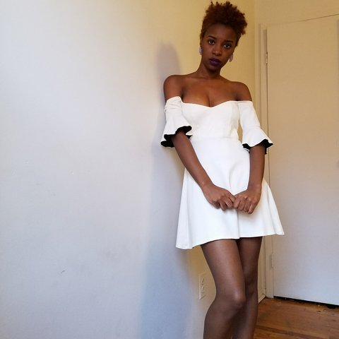 c8ec6c9acc6e White off the shoulder mini dress. Very girly and sexy. It - Depop
