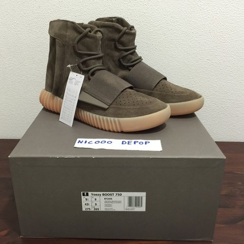 085a8619e Yeezy 750 brown Gum US 9.5 EU 43 1 3 brand new in box with - Depop