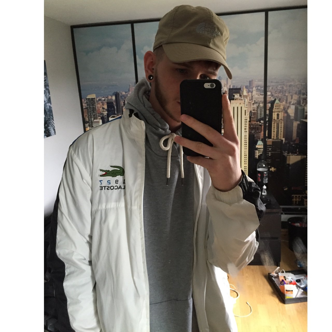47b7b7dc5f5 Price drop. Men s white 1927 Lacoste Sport track jacket. a - Depop