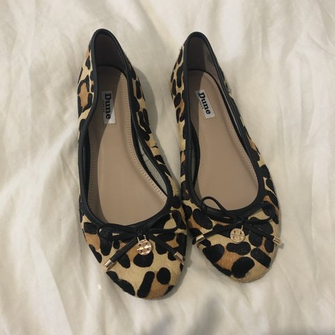 17cc6a6fd Dune Harpss Bow Detail Ballerina Pumps / Dolly shoes / Pony - Depop