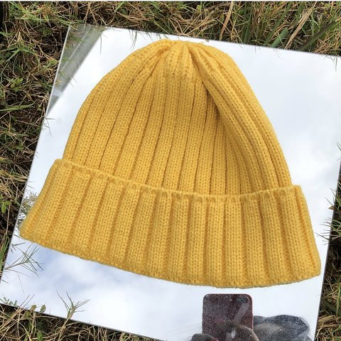🌼yellow ribbed beanie by urban outfitters 🦋 a personal and - Depop 252101d741d