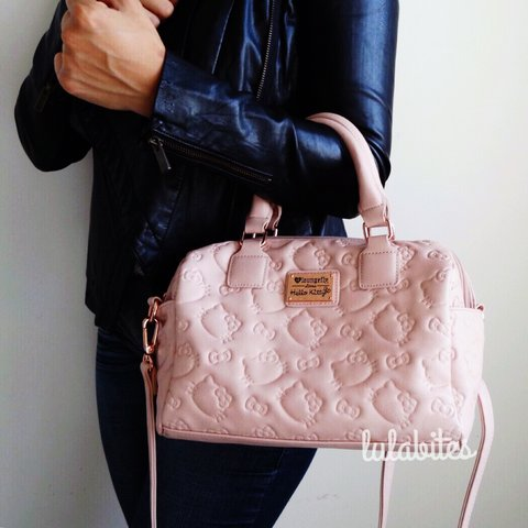 ef4f104ca @lulabites. 2 years ago. Los Angeles, CA, USA. Dusty Pink Hello Kitty  Embossed Crossbody bag. Features rose ...