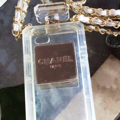f0a9cf0597fb Novelty Chanel iphone clear 5/5S case. Never been used! is - Depop