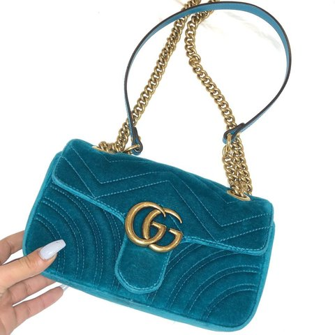 f646bb436426 @sfzx. 3 months ago. Hornchurch, United Kingdom. GUCCI MARMONT VELVET MINI  BAG PRACTICALLY BRAND NEW! AUTHENTICITY CODE - C022635239