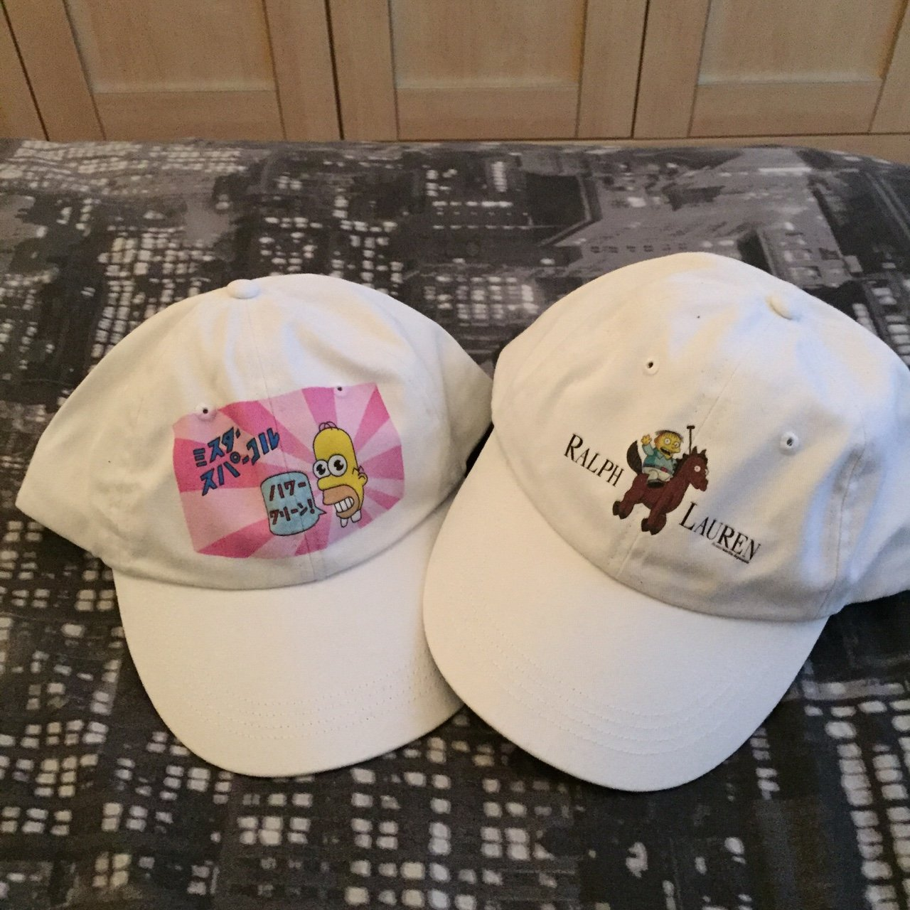 e55b195f5fd  azonline. 4 years ago. United Kingdom. £20 each. Both hats are sold  separately. Ralph  Wiggum  Lauren   Mr ...