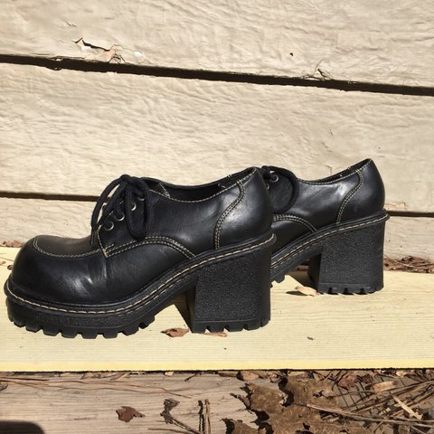 a5eed6854b56 Vintage 90s LEI Platform Ankle Boots Really good condition a - Depop