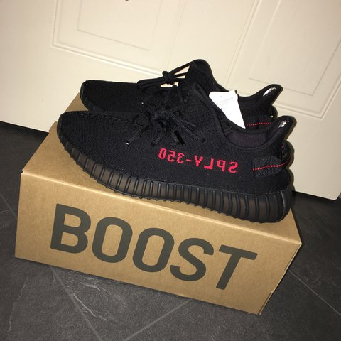 6dbc31cdedbcc Yeezy boost 350 v2 pirate black size 10 (brand new with tags - Depop