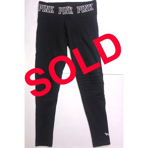 0cf4fd14610 NOW SOLD VICTORIA SECRET PINK LEGGINGS THICK NAME ON ON - Depop